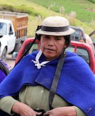 Femme du canar à Riobamba